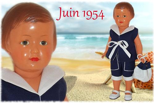 Tenue poupée Modes et Travaux pour Françoise Juin 1954