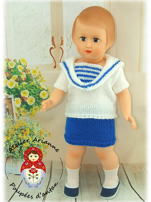 Tenue poupée Françoise  Modes et Travaux complétant la tenue de Juillet 1959