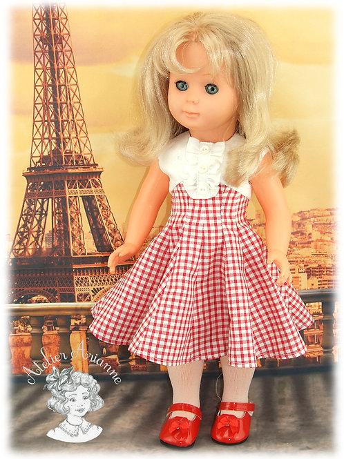 Parisienne, tenue pour poupées de Modes et Travaux