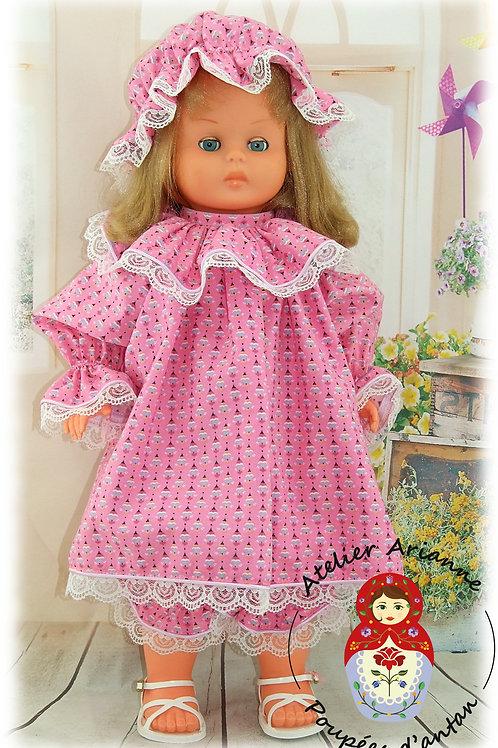 DARIA décembre 1988 Tenue pour poupée GéGé 52 cm