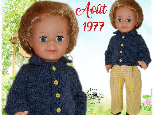 Tenue pour poupée Jean-Michel Modes et Travaux Août 1977