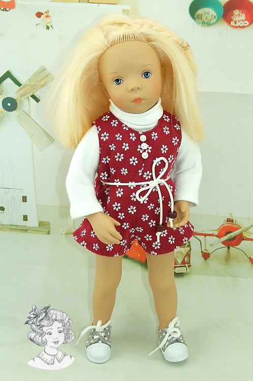 Tenue Marta avec boutons pour poupées de 30-33 cm