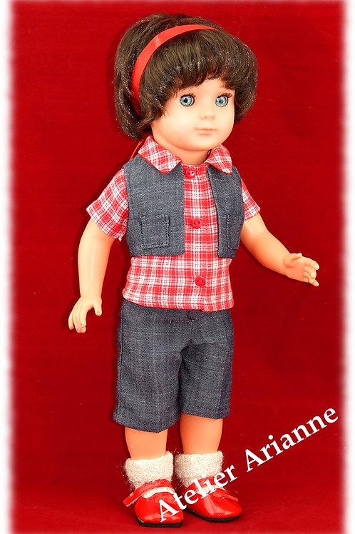Tenue pour poupée Marie-Françoise Modes et Travaux Avril 1981