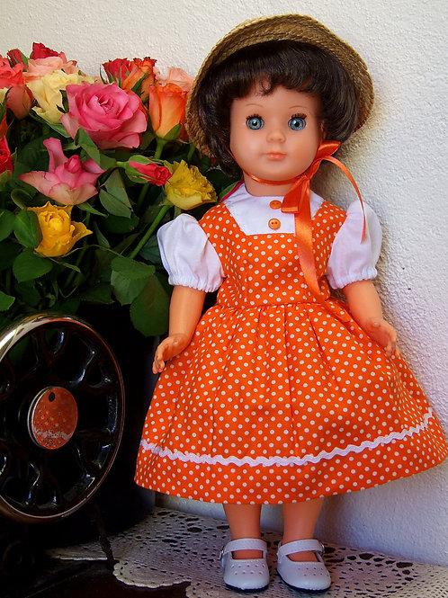 Tenue pour poupée Modes et Travaux Françoise, Marie-Françoise, Emilie Juin 1956