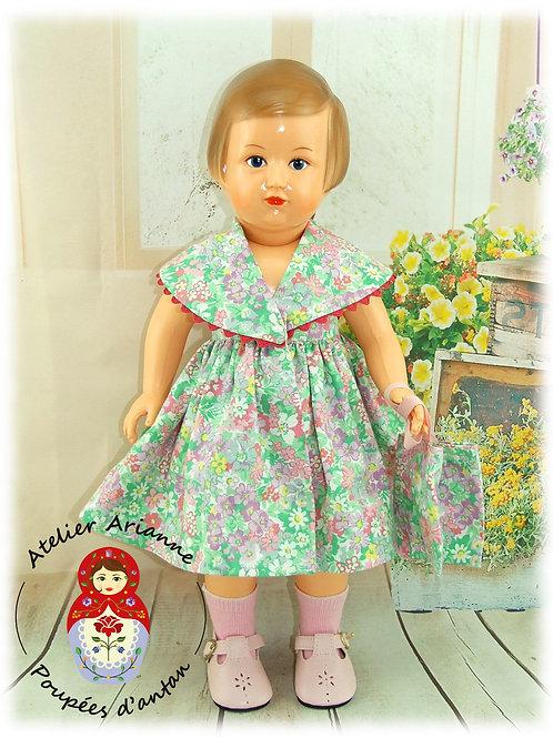 Tenue pour poupée Françoise ou Marie-Françoise Modes et Travaux Juin 1951