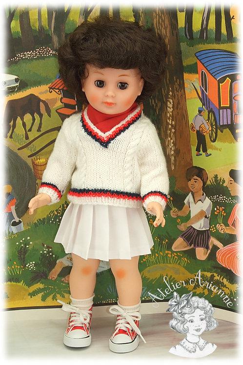 Août 1973 Tenue pour poupée Marie-Françoise Modes et Travaux