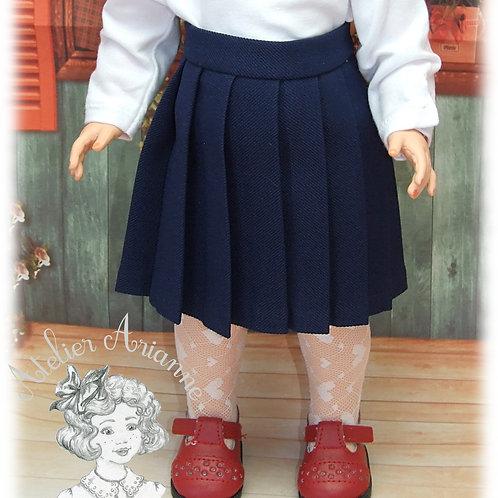 Jupe plissée pour poupée Marie-Françoise de Modes et Travaux
