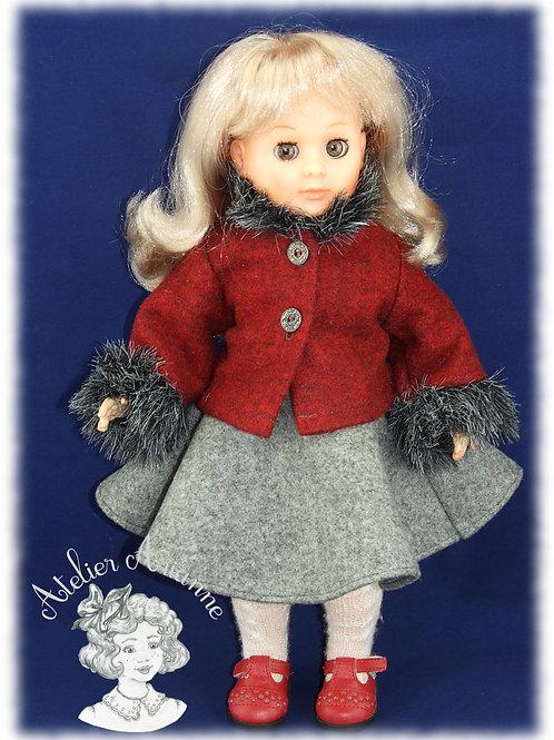Novembre 1982 (la veste) Tenue pour poupée Marie -Françoise de M et T