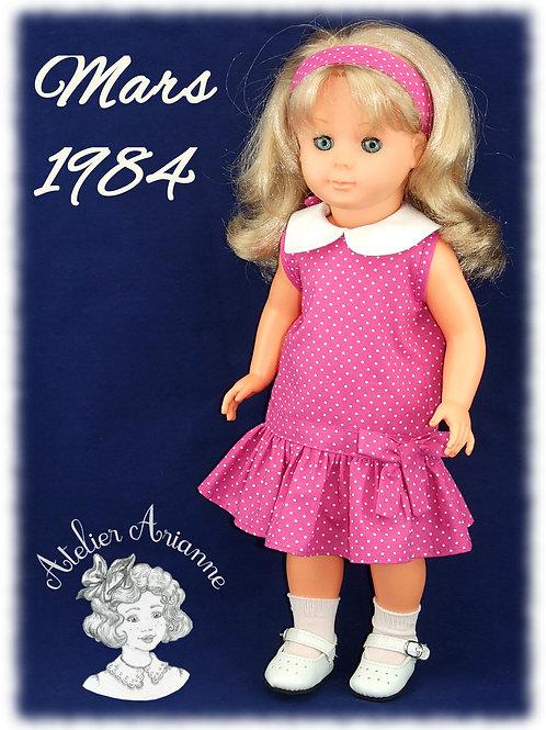 Tenue pour poupée Françoise Modes et Travaux Mars 1984