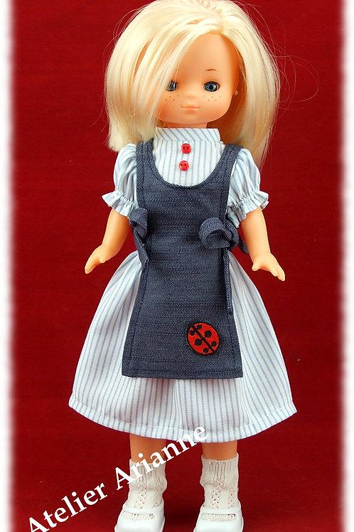Reproduction Tenue Casera pour poupée Lesly de Famosa 30-31 cm