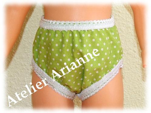 Culotte vert pomme pour  poupée Modes et Travaux - Françoise, Emilie