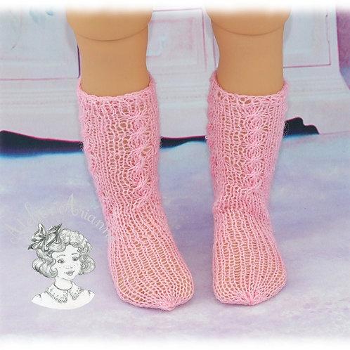 Chaussettes tricotées pour poupées de 48-52 cm: Raynal, GéGé, Gotz, American ...