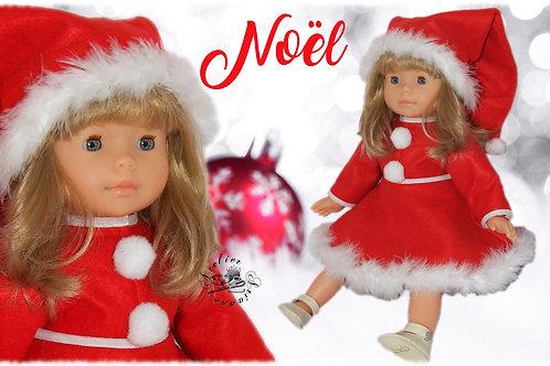 """Tenue pour poupée Corolle """" Mère Noël """""""