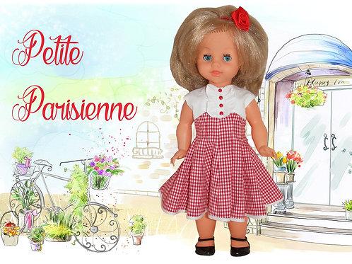 """Robe """" Parisienne """" pour une poupée Bella"""