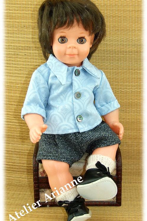 Tenue pour poupée Michel Modes et Travaux Mars 1965