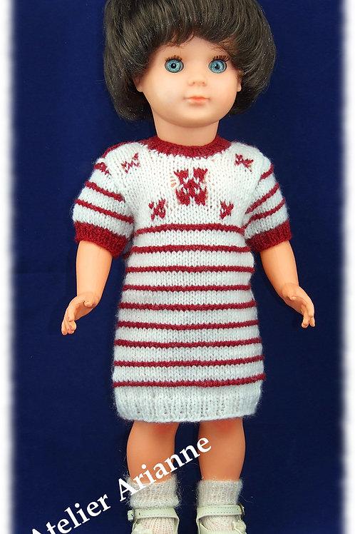 Tenue Journée d'hiver, tricot pour poupées Modes et Travaux
