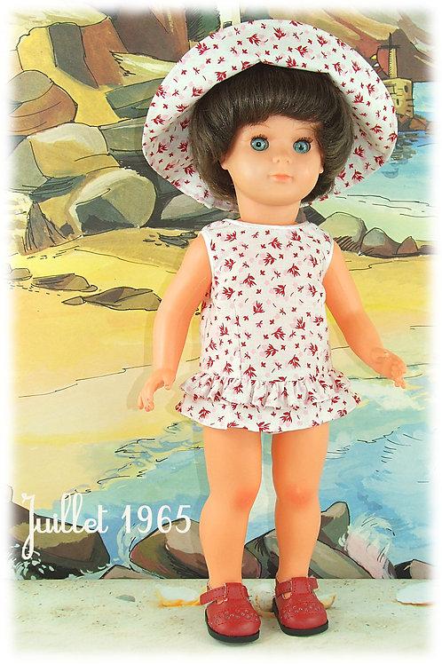 Juillet 1965 Tenue pour poupée Marie-Françoise Modes et Travaux