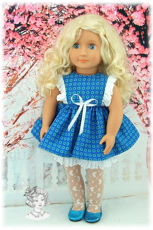 Tenue Rosine pour poupées : Emilie de M et T , Gotz, Our Generation et American