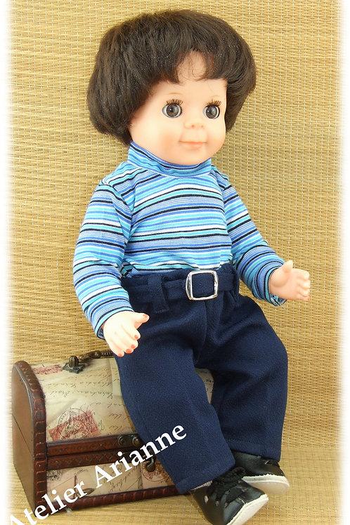 Tenue pour poupée Michel Modes et Travaux Juin 1969