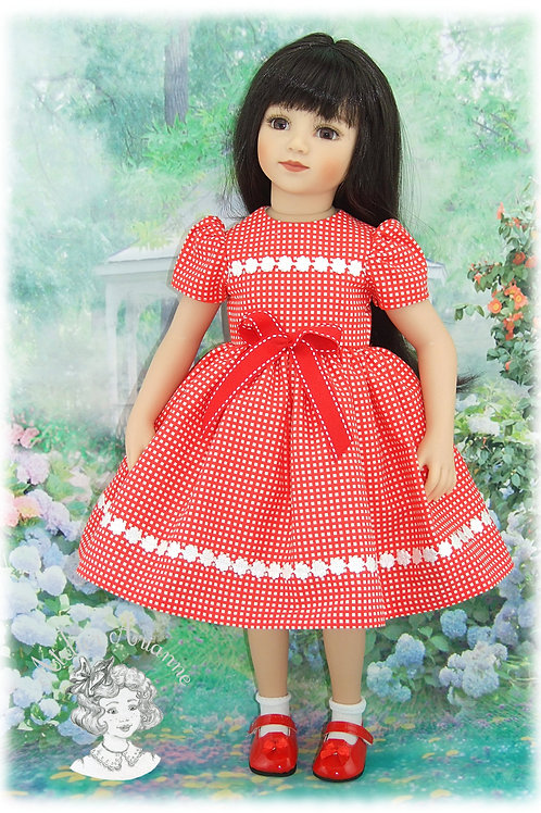 Tenue Léonie pour : Gotz, Raynal, GéGe, Kidz, Maru et autres poupées de 48-50 cm
