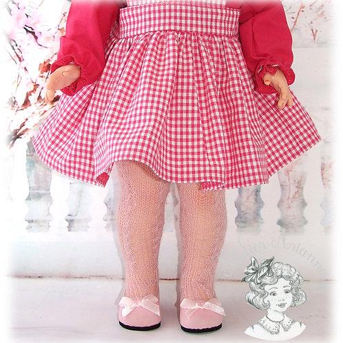 Collants tricotés pour poupées de Modes et Travaux