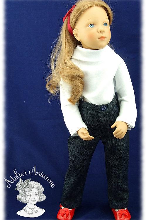 Pantalon pour poupée Finouche de Petitcollin