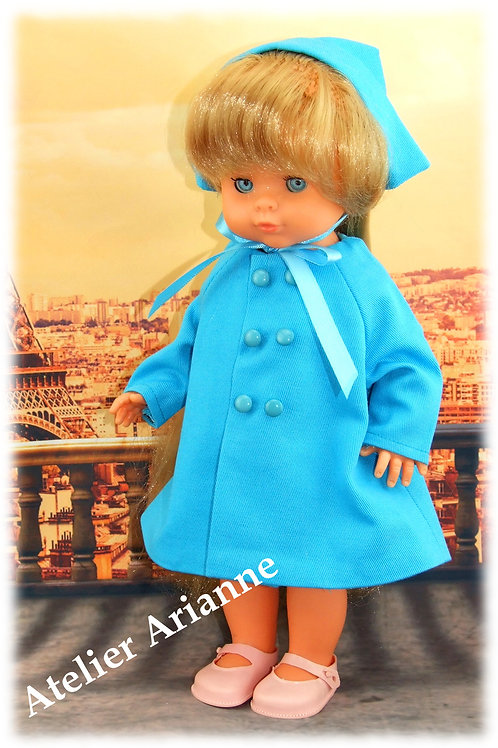 Tenue Promenade pour poupées Bella , Vidal Royas, et autres 33-35 cm