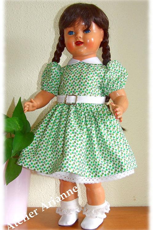 Reproduction Robe Enny pour poupée Raynal 48 cm en rhodoïd