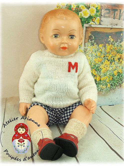 Tenue pour poupée Michel Modes et Travaux Octobre 1958