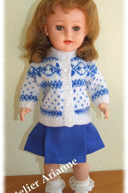 Tenue Tomette pour poupée Gotz,Raynal et autres 48-50 cm