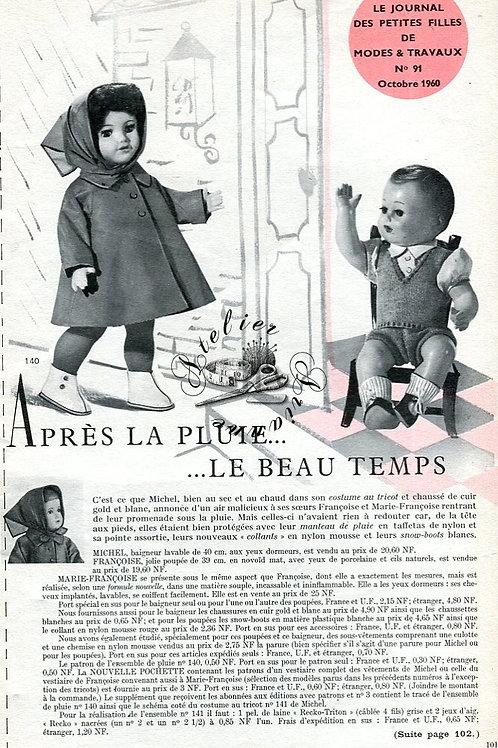 Page Modes et Travaux Octobre 1960 avec mini patron