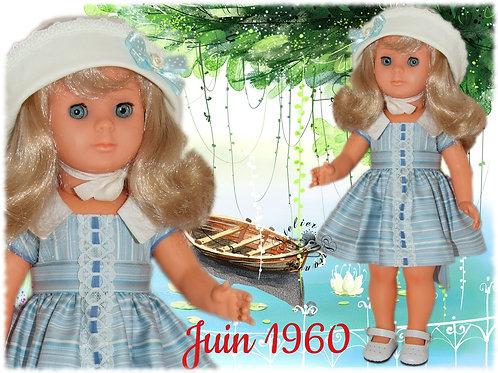 Tenue pour poupée de Modes et Travaux , Juin 1960
