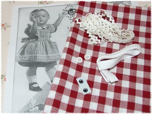 Kit 12 couture Modes et Travaux Françoise Avril 1953 tablier