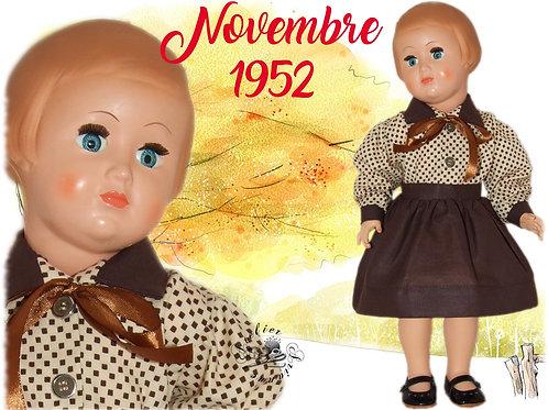 Tenue pour poupée Françoise Modes et Travaux Novembre 1952
