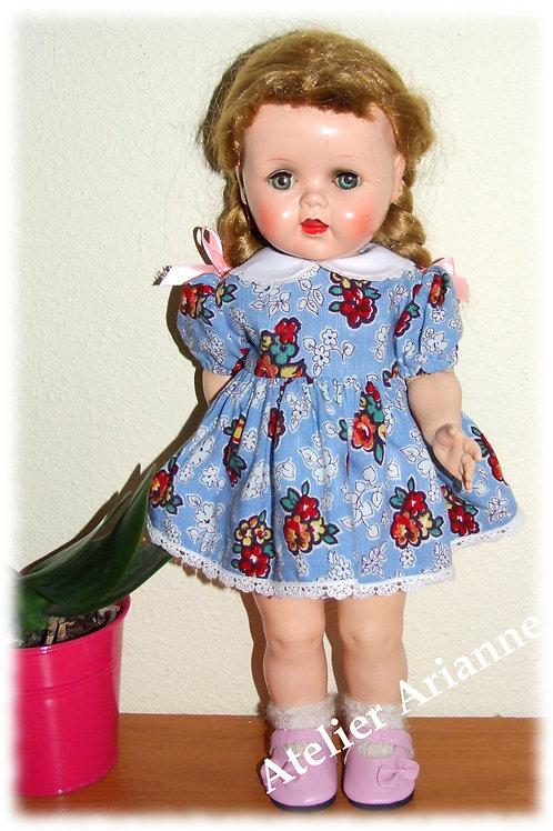 Tenue Lise pour poupée Evelyne 38 cm, Petite Fille de France, Bella , GéGé