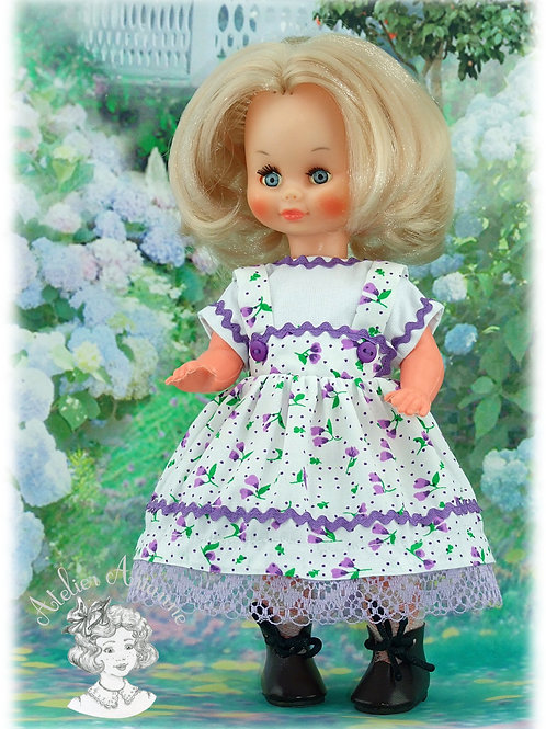 Tenue Ninette pour poupée Ann-Estelle ou autres poupettes de 25-27 cm