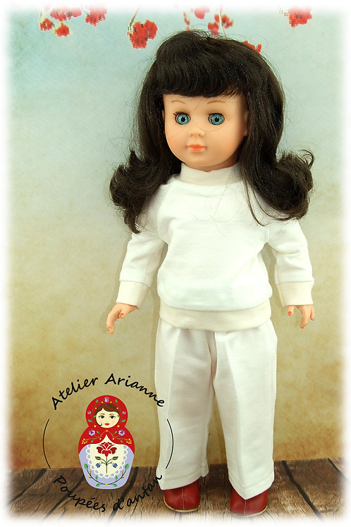 Décembre 1970 Tenue pour poupée Marie-Françoise de Modes et Travaux