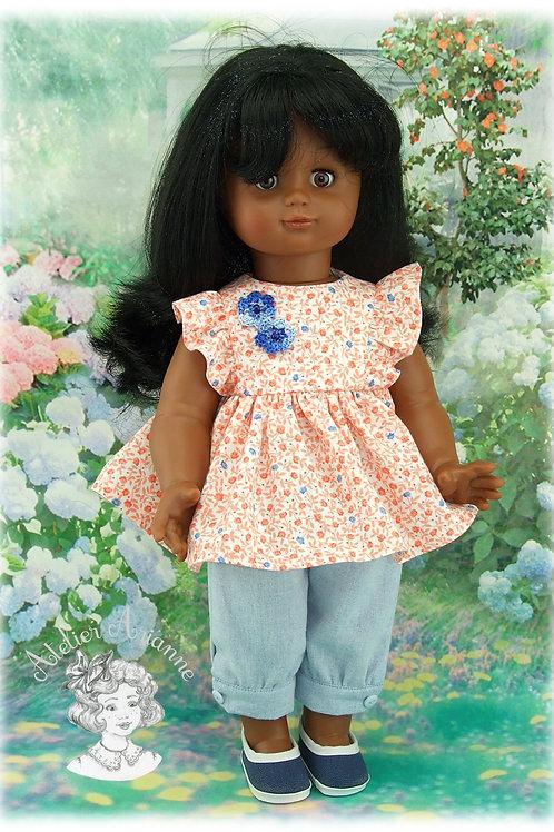 Tenue Paloma pour poupées: M et T, M-F, Emilie , Kattie de Raynal