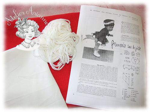 Kit Novembre 1957 pour pour poupée Françoise de Modes et Travaux