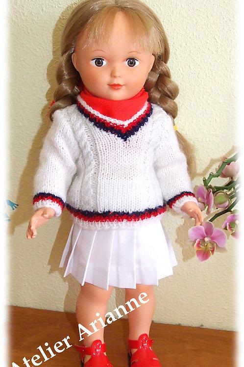 Tenue pour poupée Marie-Françoise Modes et Travaux Août 1973