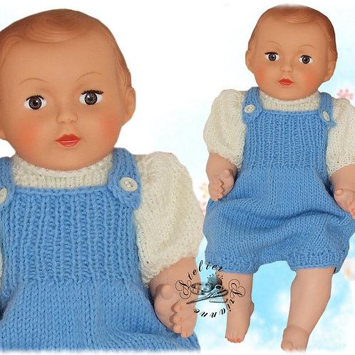 Barboteuse pour Michel faite au tricot