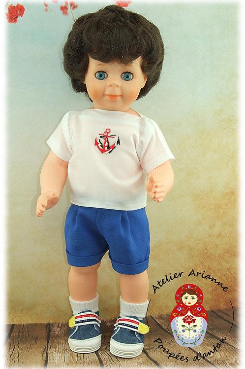 Juillet 1985 Tenue pour poupée Jean-Michel de Modes et Travaux