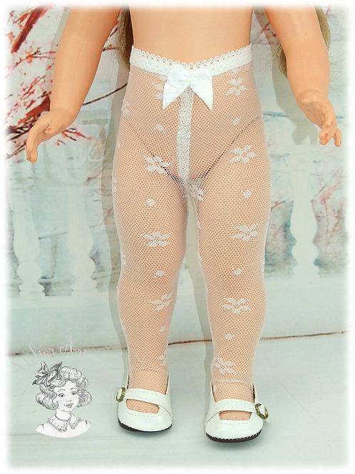 Collant dentelle petites fleurs pour poupées Marie-Francoise