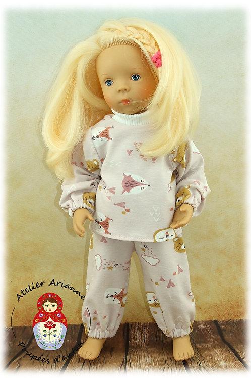 Janvier 1983 Tenue pour poupée Minouche 33 cm