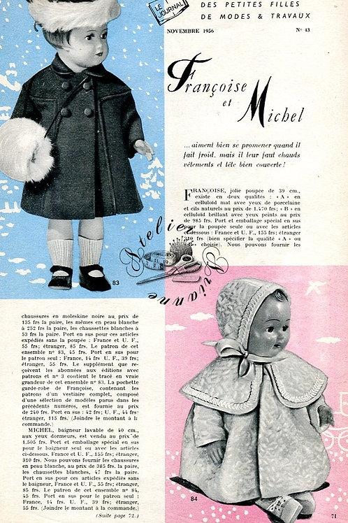 Page Modes et Travaux Novembre 1956 avec mini patron