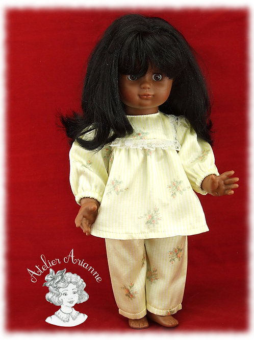 Pyjama Maria pour poupée Emilie de Modes et Travaux