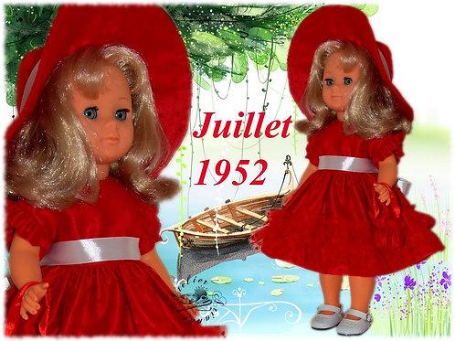 Commande pour Nathalie Tenue pour poupée Françoise Modes et Travaux Juillet 1952