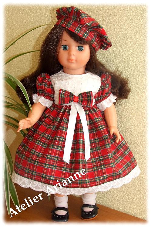 Tenue Laurie pour poupées Modes et Travaux Marie-Françoise, Louise, Emilie