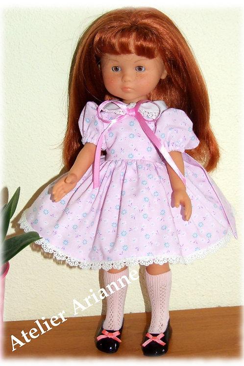 Tenue Lise pour poupées  Little Darling ,Minouche, Corolle 33 cm