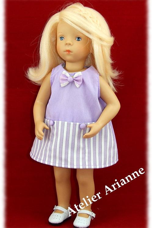 Tenue Violette pour poupées Little Darling, Corolle, Minouche,Bella 35 cm